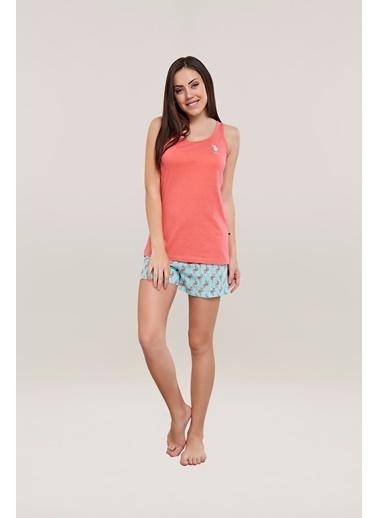 U.S. Polo Assn. Pijama Takım Mercan